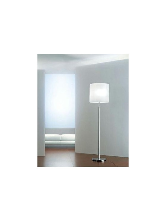 Class Floor Lamp By Leucos Lighting - Class by Leucos is a floor lamp with a satin white or satin amber hand blown glass diffuser.