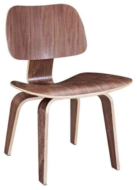 Modway - Fathom Plywood Dining Chair In Walnut - Eei-620-Wal midcentury-dining-chairs