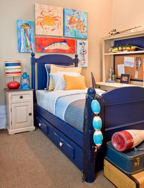 Modern ocean themed boy 39 s room modern bedroom other metro by oopsy daisy fine art for kids - Ocean themed bedroom ...