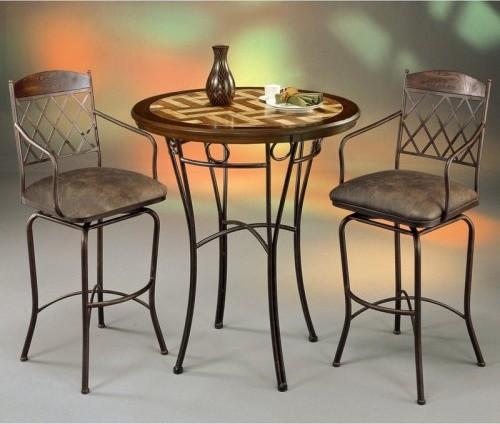 pastel napa ridge 3 pc pub table set with wood travertine