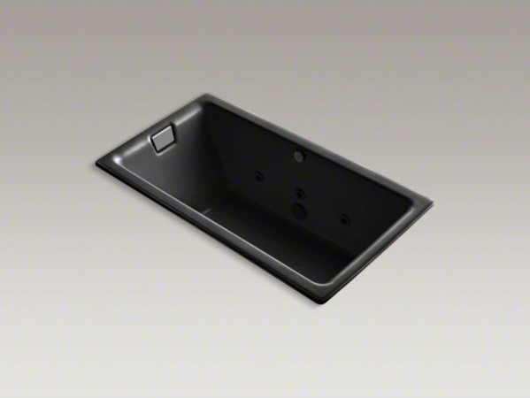 """KOHLER Tea-for-Two(R) 66"""" x 36"""" drop-in whirlpool with reversible drain, custom contemporary-bathtubs"""