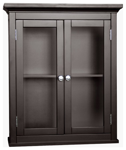 Classique Espresso 2-door Wall Cabinet - Contemporary ...