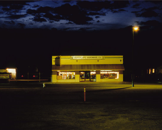 """Guadalupe Hardware Company - C-print, unmanipulated transparency film image, 20""""x30"""" image size, 24""""x34"""" paper size, edition of three c-prints, edition of three pigment prints. Signed, numbered and captioned in ink on the verso."""