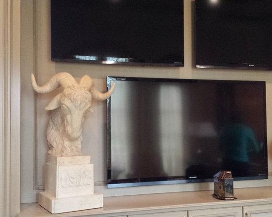Installations - Houston- custom design marble US Naval Academy mascot bust