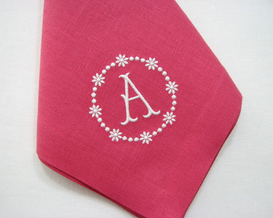 Pink Dinner Napkin - Dinner Napkins - Best hand made napkins, will never shrink or stretch in the wrong direction, they are hand made from carefully cut linen. They have been carefully measured and sewn to perfection. Mitered corners. Reversible. Regular Hem. Made in the US from imported Irish linen.