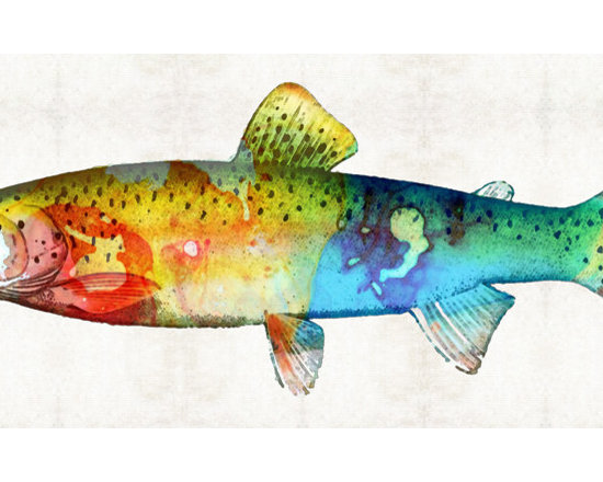Animals, Fish and Birds - Rainbow Trout Art by Sharon Cummings
