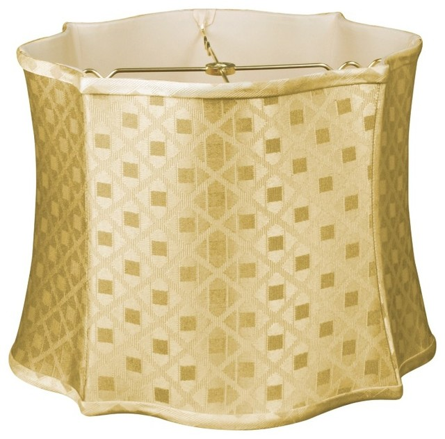 Fancy Scalloped Square Designer Lampshade traditional-lamp-shades