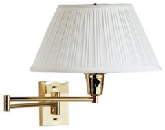 Classic rich and gleaming the Element Wall Swing Arm Lamp brightens any room eve modern-lamp-shades