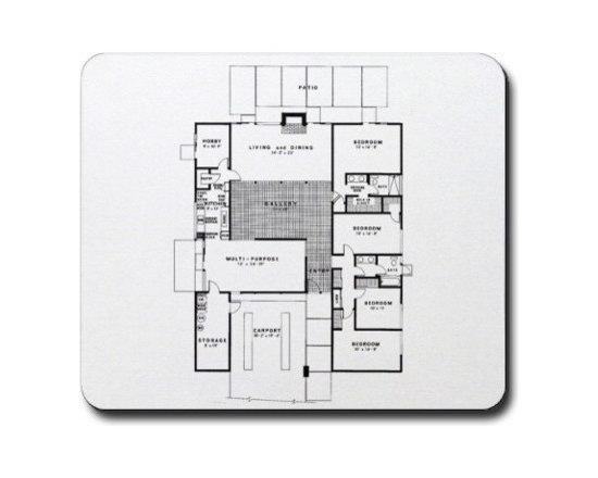 Eichler Floor Plan Mouse Pad -