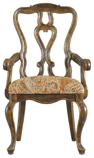 Rustica Dining Room Arm Chair - Sorrel Finish traditional-dining-chairs