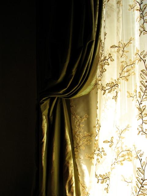 Panel drapery traditional