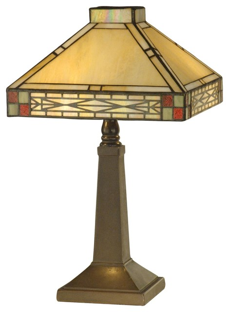 New Dale Tiffany Accent Lamp Bronze Mica craftsman-table-lamps