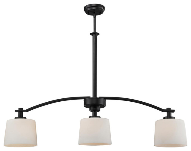 arlington 3 light island fixture contemporary kitchen