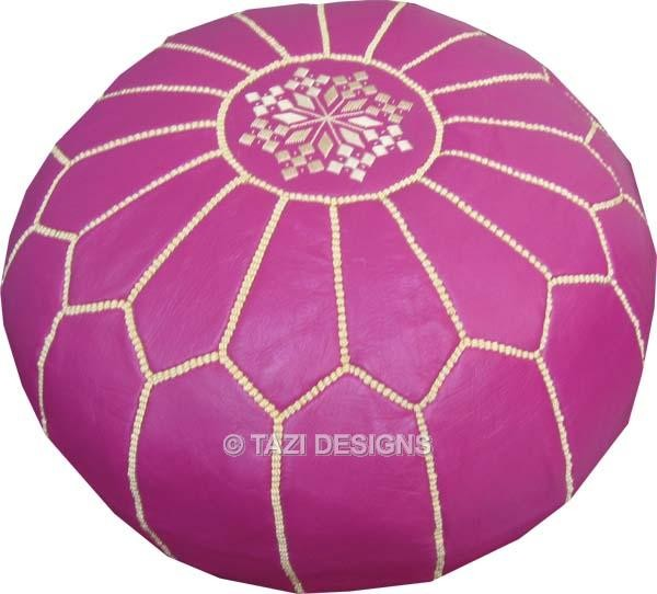 Magenta Moroccan Pouf floor-pillows-and-poufs