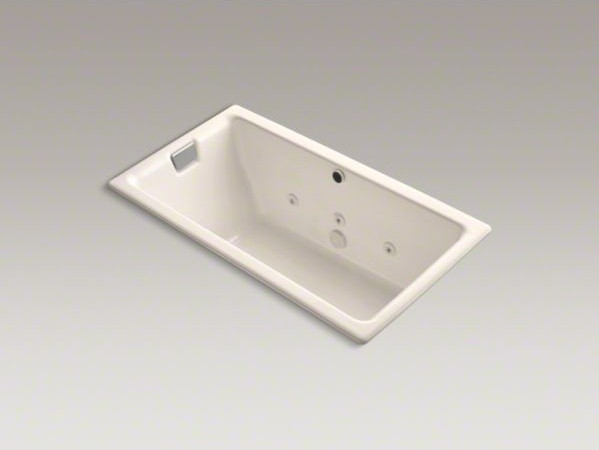 "KOHLER Tea-for-Two(R) 66"" x 36"" drop-in whirlpool bath with reversible drain, cu contemporary-fire-pits"