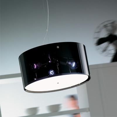 Vistosi | Thor 1 Suspension Large Black W/Cover modern-pendant ...