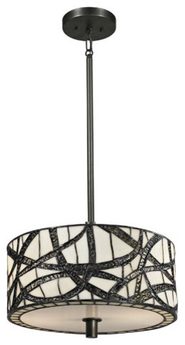 Willow Cottage Dark Bronze Two Light 48-Inch Pendant traditional-pendant-lighting