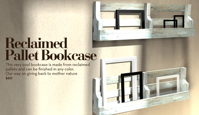 Reclaimed Pallet Bookcase traditional-bookcases