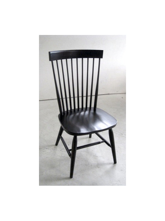 Duxbury Dining Side Chair in Black - Made by http://www.ecustomfinishes.com