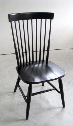 Duxbury Dining Side Chair in Black Farmhouse Dining Chairs boston by