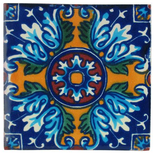 Yellow Cross Talavera Tiles, Box of 15 mediterranean-tile