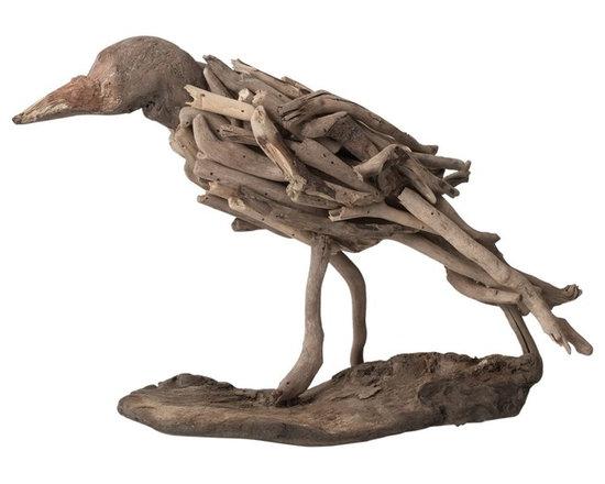 Natural Driftwood Bird -