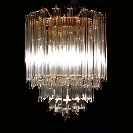 1970 S Murano Venini Crystal Chandelier Contemporary