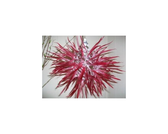 """Eco Friendly Furnture and Lighting - Captivating Modern Elegance with """"Unexpected Materials"""" Title: """"Spore"""" Medium: Recycled Plastic Bottles & Aluminum Colors: Red"""