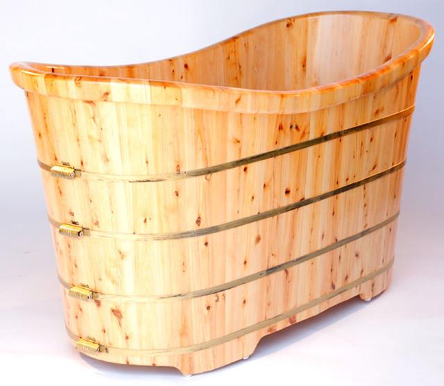 alfi ab1105 63 quot free standing cedar wood bath tub asian