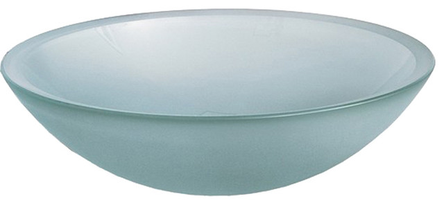 American standard dorian glass above counter vessel frosted contemporary for Above counter bathroom sinks glass