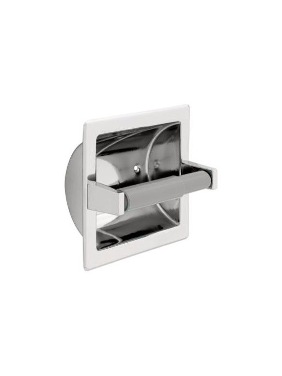 Liberty Hardware - Liberty Hardware 607B F.B. GUEST ROOM ACCESSORIES 6.6 Inch Tissue Paper Holder - Ideal for commercial buildings or office bathrooms, this recessed toilet paper holder is made of durable stainless steel material and is polished to coordinate with other bathroom fixtures. The plastic roller makes changing the paper easy and fast. Width - 6.6 Inch, Height - 6.7 Inch, Projection - 4.1 Inch, Finish - Polished Chrome, Weight - 1.05 Lbs.