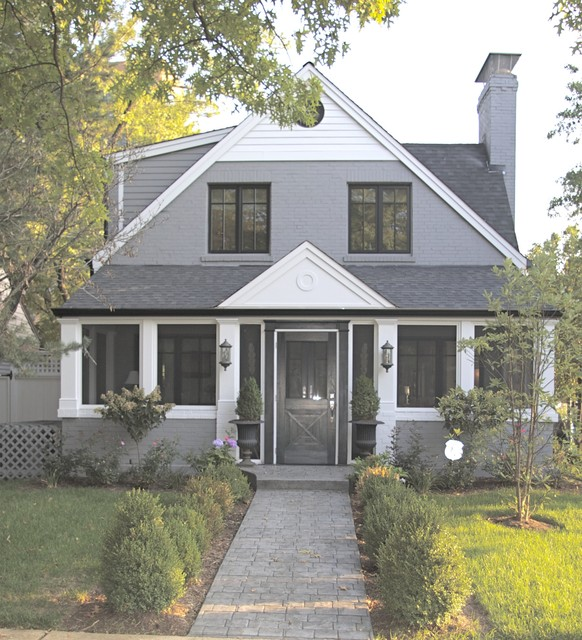 Forsyth Home creates Urban/residential blend in Clayton Gardens traditional-exterior