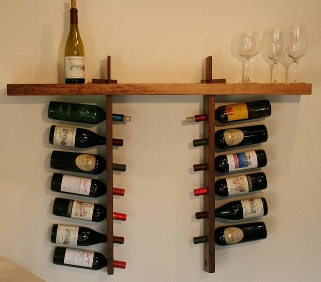 Wine Shelf - Asian - Wine Racks - sacramento - by Honoring Fallen Trees