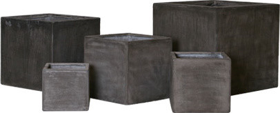 Fiberclay Plain Boxes modern outdoor planters