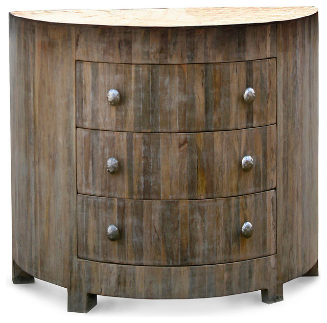 Driftwood Demi Lune Chest - Transitional - Accent Chests And Cabinets - by Bliss Home & Design
