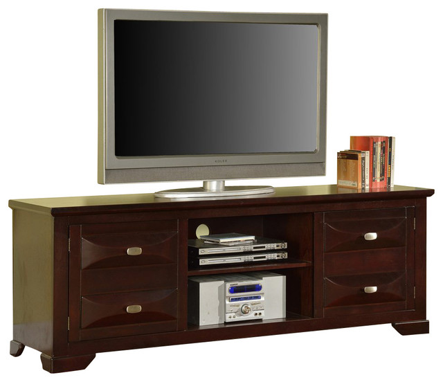 TV Stand, Dark Cherry Finish - Traditional - Entertainment Centers And Tv Stands - by 2K ...