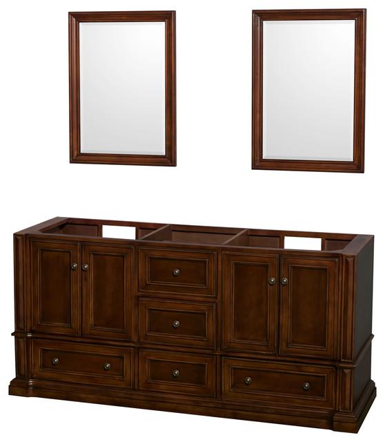 Rochester 72 Cherry Vanity No Top No Sinks Mirrors