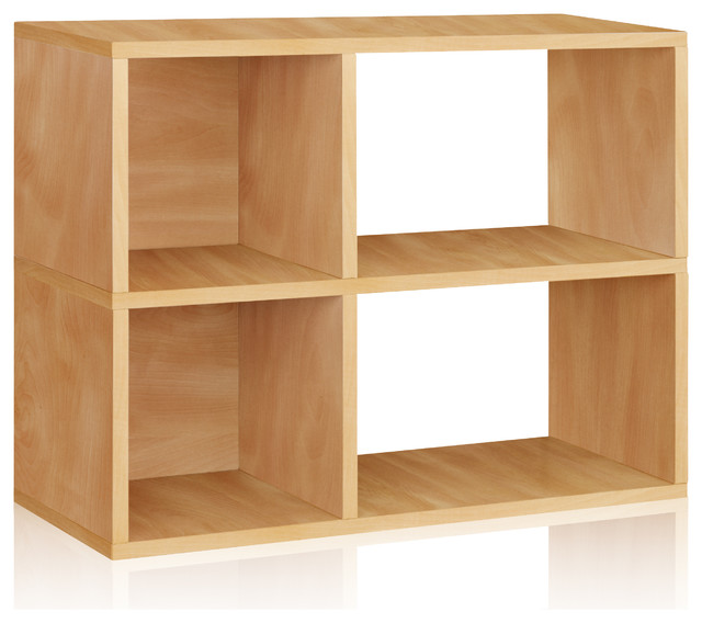 Way Basics 2 Shelf Chelsea Bookcase, Natural modern-accent-chests-and-cabinets