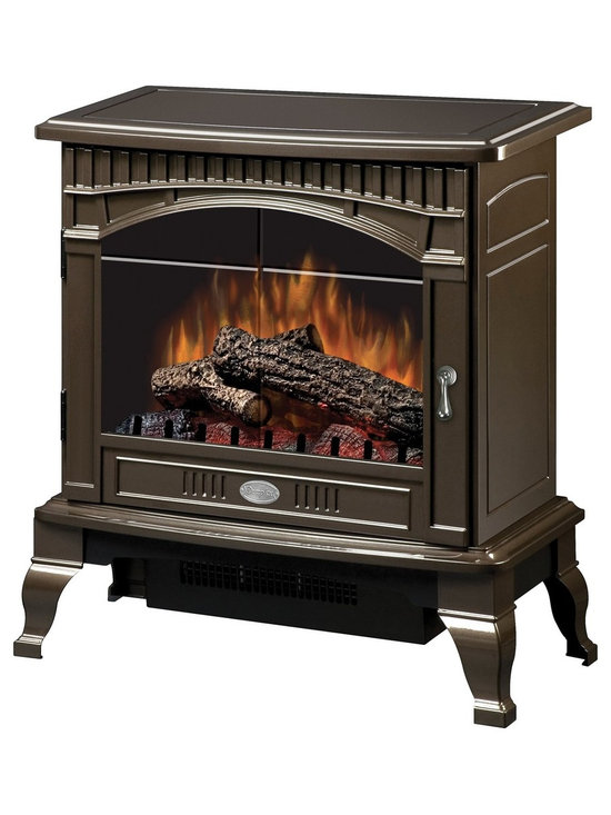 """Dimplex Gloss Bronze Traditional I Electric Stove - Dimensions: 25"""" x 26-1⁄2"""" x 15-1⁄2"""""""