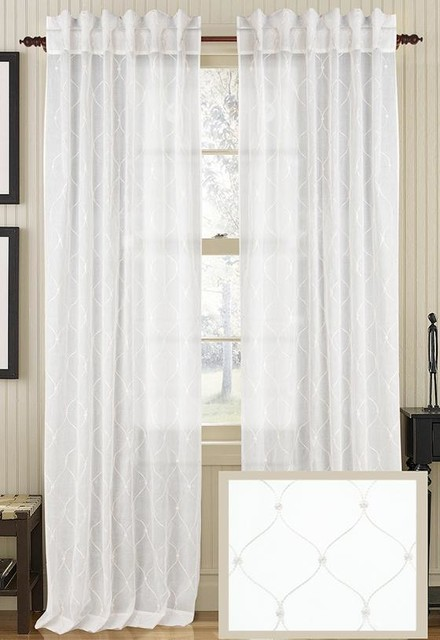 Starred Sheer Curtain Panel traditional-curtains