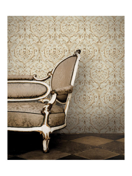 Vintage Wallpaper - A chic vintage wallpaper design available from Brewster Home Fashions