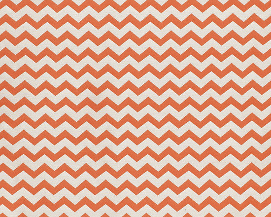 Ballard Designs - Chevron Stripe Orange EasyCare Fabric by the Yard - Bold orange and cream chevron stripe woven in easy-care, washable poly blend. . Because fabrics are available in whole-yard increments only, please round your yardage up to the next whole number if your project calls for fractions of a yard. To order fabric for Ballard Customer's-Own-Material (COM) items, please refer to the order instructions provided for each product.Ballard offers free fabric swatches: $5.95 Shipping and Processing, ten swatch maximum. Sorry, cut fabric is non-returnable.