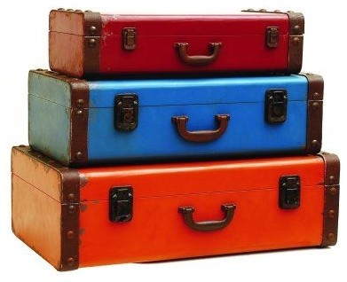3 Luggage Storage Cases traditional accessories and decor