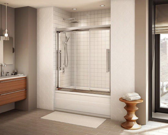 Fleurco Banyo Treviso Tub 60 Frameless In-Line Sliding Door ETR060 - Deluxe anti-jump smooth rolling system