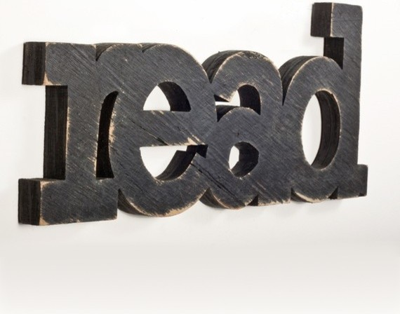 read sign made from recycled wood by oh dier contemporary accessories