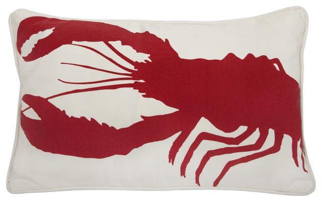 Thomaspaul - Lobster Lava Outdoor Pillow modern-outdoor-pillows