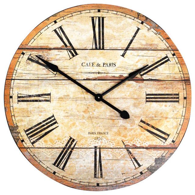 Zentique Wooden Wall Clock contemporary-clocks