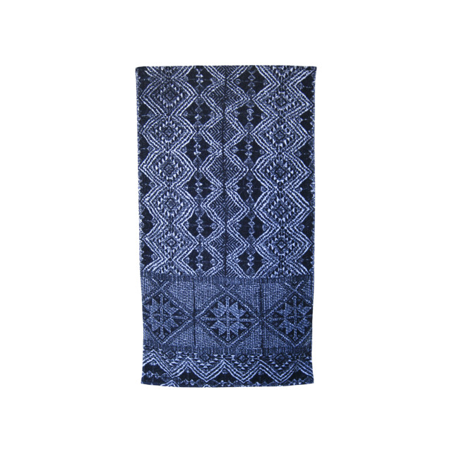 Fresco Towels  African Batik Indigo White Towel contemporary-towels