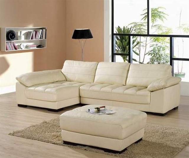Sophisticated All Italian Leather Sectional Sofa Modern