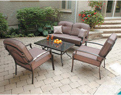 Mainstays Wentworth 4-Piece Conversation Patio Set contemporary patio furniture and outdoor furniture